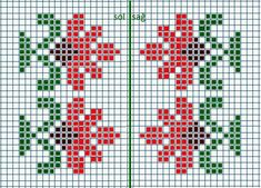 This Pin was discovered by Zuh Small Cross Stitch, Cross Stitch Cards, Cross Stitch Borders, Cross Stitch Flowers, Cross Stitch Designs, Cross Stitching, Cross Stitch Patterns, Knitted Mittens Pattern, Fair Isle Knitting Patterns