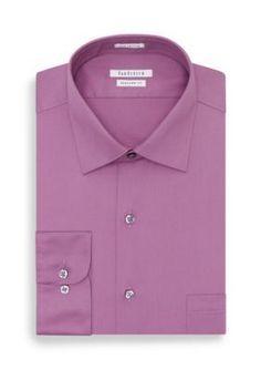 Van Heusen Ice Lilac  ular-Fit Dress Shirt