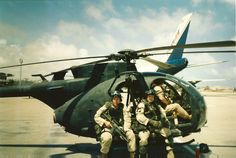 SOAR Little Bird staging for a mission during Operation Gothic Serpent is the anniversary of the arriving in Somalia. Military Helicopter, Military Gear, Military Life, Military History, Military Aircraft, Us Army Delta Force, Battle Of Mogadishu, Us Ranger, Us Army Rangers