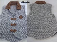 images attach d 1 133 785 Baby Knitting Patterns, Baby Boy Knitting, Easy Knitting, Knitting For Kids, Pullover Design, Sweater Design, Knit Vest Pattern, Baby Boy Dress, Baby Pullover