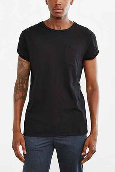 BDG Rolled Cap Sleeve Standard-Fit Tee - Urban Outfitters