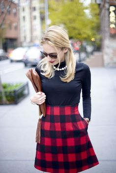 Preppy Plaid Holiday Outfit - Katie's Bliss by /katiesbliss/ via /kcomey/