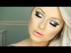 New Years Eve Makeup Tutorial | Silver Glam & Morphe 35K Palette - YouTube