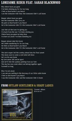 VOLBEAT | Lyrics | Lonesome Rider