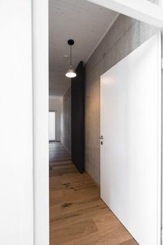 House F on the Hillside is a minimal residence created by Austria-based designers Breitenthaler Minimalism, Bathtub, House, Interiors, Design, Carpentry, Detached House, Standing Bath, Bath Tub