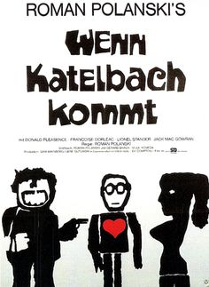 Jan Lenica, Film Poster for Wenn Katelbach kommt… Cil-de-sac by Roman Polanski, 1972