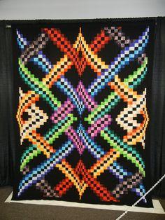 Denver Quilt Show 2011  Della Morris- Francis Idaho Springs, CO  Machine Pieced and Quilted, Original Design