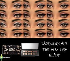 (UNISEX) bareMinerals The Wish List READY Eyeshadow 12.0 eyeshadow palette for TS4!Standalone UNISEX eyeshadow set with swatches and custom thumbnail. DOWNLOAD HERE