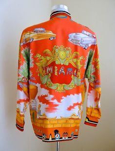 Gianni Versace Art Deco South Beach Silk Shirt Spring Summer 1993