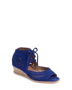262179c311d Jeffrey Campbell - Blue  rodillo  Wedge Sandal - Lyst