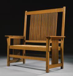 stickley, gustav a rare tall-b Craftsman Style Furniture, Mission Style Furniture, Craftsman Interior, Arts And Crafts Furniture, Diy Furniture, Furniture Design, Furniture Projects, Antique Furniture, Bungalow Interiors
