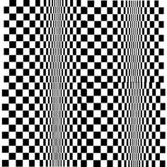 §§º§§ Bridget Riley Art Optical, Optical Illusions, Bridget Riley, Hidden Images, Black White Art, Geometric Art, Geometric Patterns, Illusion Art, Textures Patterns