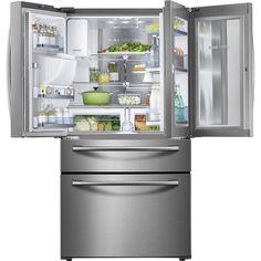 Samsung - Showcase 27.8 Cu. Ft. 4-Door French Door Refrigerator - Stainless Steel - AlternateView14 Zoom