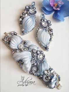 """Mermaid"" shibori set by AdrianaJewelryStyle"