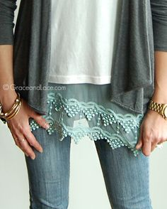 What would I do without lace top extenders and slip extenders?! This mint beauty is via Grace and Lace ($36.00)