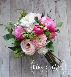 Country Bouquet Dark Pink Shabby Chic door blueorchidcreations