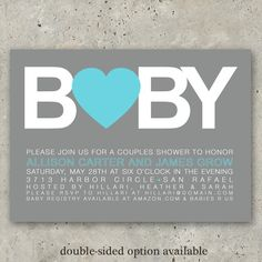 baby shower invitations boy or girl  Big Baby by minkcards on Etsy, $64.00