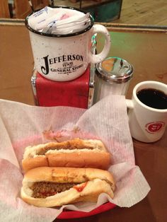 Famous Moody Dogs at Jefferson General Store.