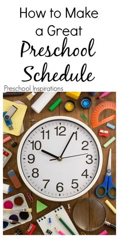 How to make a great preschool schedule. These are 5 of the important factors in planning a day with preschoolers or young children. Preschool Schedule, Preschool Rooms, Preschool At Home, Preschool Curriculum, Preschool Themes, Preschool Lessons, Preschool Kindergarten, Preschool Learning, Preschool Activities