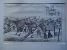 Board Schools , Thaxted, Essex, England, UK, 1882, John Salter