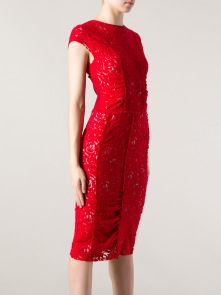 NINA RICCI Red Lace Dress Red Lace, Lace Dress, Runway, Formal Dresses, Beauty, Style, Fashion, Red Ribbon, Cat Walk