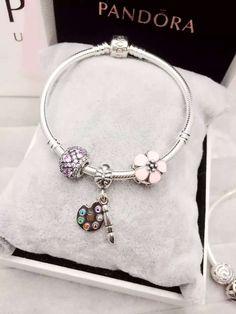 50% OFF!!! $119 Pandora Charm Bracelet Pink. Hot Sale!!! SKU: CB01569 - PANDORA Bracelet Ideas