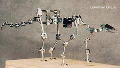 Stegosaur Armature - by Lionel Ivan Orozco Stop Motion Armature, Art Haus, Animation Stop Motion, Camera Hacks, Bad Hair, Skeletons, Fantasy Creatures, Puppets, Robots