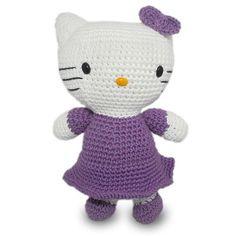 Hello Kitty hecha a ganchillo 100% a mano. Realizado con la técnica del amigurumi (de origen Japones)