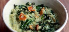 Wilted Kale & Quinoa Salad With Avocado Basil Dressing - mindbodygreen.com