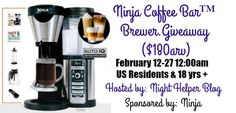 Ninja Coffee Bar #Giveaway {US   Ends 02/26}  #ad   Pink Ninja Blogger