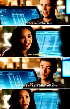 """There's not Flash without Iris West"" - Barry and Iris #TheFlash"