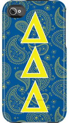 """""""Delta Delta Delta Paisley"""" by Sorority Life for the iPhone 4/4S Capsule"""