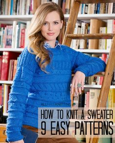 How to Knit a Sweater: 9 Easy Patterns | AllFreeKnitting.com