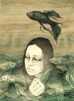 Black fish by elia-illustration