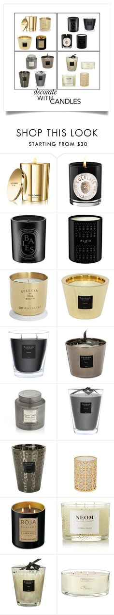 """decorate with candles"" by juliet-mary ❤ liked on Polyvore featuring interior, interiors, interior design, home, home decor, interior decorating, Dolce&Gabbana, Guerlain, Diptyque and Tom Dixon"