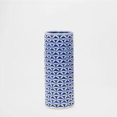 jarrn cermica azul jarrones decoracin zara home espaa u canarias