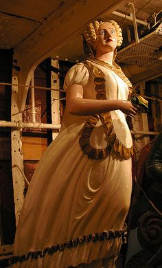 Ship figurehead, Cutty Sark, Greenwich