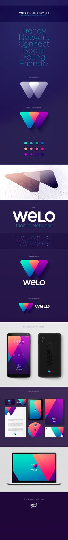 Welo - Selected Works by French Toast Tech Branding, Corporate Identity Design, Brand Identity Design, Graphic Design Branding, Visual Identity, Identity Branding, Brochure Design, Web Design, Pag Web