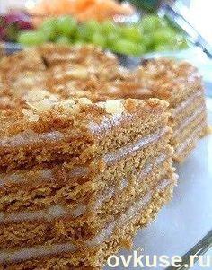 Самый лучший рецепт торта сметанник Russian Cakes, Russian Desserts, Russian Recipes, Russian Foods, Baking Recipes, Cake Recipes, Dessert Recipes, Easy Cake Decorating, Sweet Cakes
