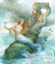 Image result for vintage mermaid art