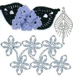 Watch The Video Splendid Crochet a Puff Flower Ideas. Wonderful Crochet a Puff Flower Ideas. Crochet Bouquet, Crochet Puff Flower, Crochet Flower Tutorial, Crochet Leaves, Crochet Flowers, Crochet Motif Patterns, Crochet Diagram, Crochet Chart, Crochet Designs
