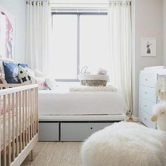 Guest Bedroom and Nursery with Changing Table Dresser