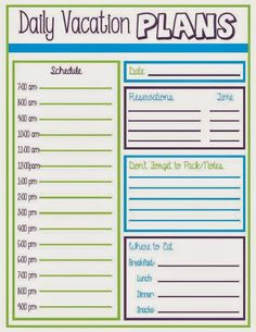 vacation planner travel planner trip planner vacation organizer