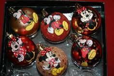 Mickey and Minnie Mouse Christmas Ornaments by CreativeGitana, $13.50