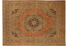 "Vintage Antique Tabriz Carpet 9'2"" x 12'9""   $35.000"