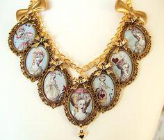 Marie Antoinette Necklace Marie Antoinette by FragileEliteDesign