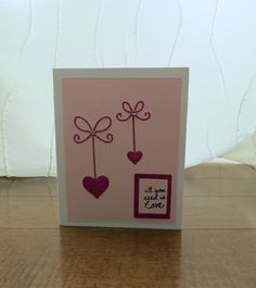 Handcrafted Cards from My Pretty Creativity  www.facebook.com/MyPrettyCreativity #valentines #love #hearts #sparkle #allyouneedislove #prettyinpink #greetingcards #handmade #handcrafted #cards