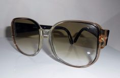 6b5a9dd799 Vintage Luxottica Sunglasses Oversized 1980 s Made In Italy Browncognac 367   Luxottica  Round  Casual