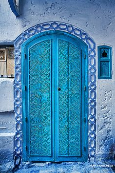 Beautiful blue door Chefchaouen, Morocco  by Yana Stancheva, via Flickr