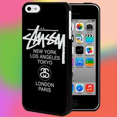 STUSSY T SHIRT LONDON PARIS FOR IPHONE AND SAMSUNG GALAXY CASE #PnY
